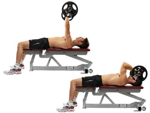 EZ-bar lying triceps extension - skullcrushers