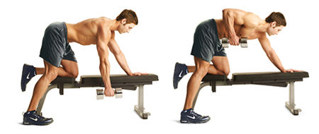One-Arm Dumbbell Row Exercise