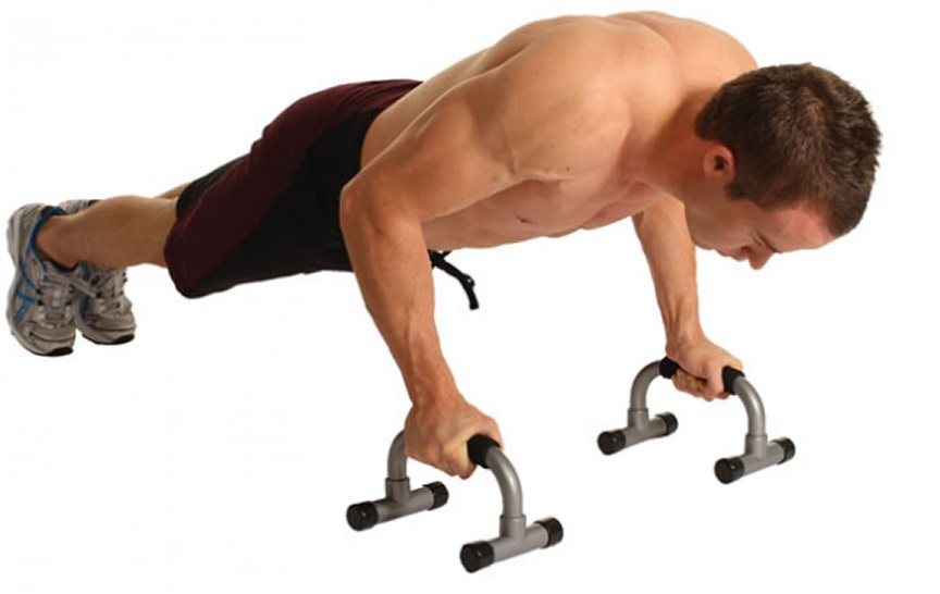 Frame-supported push-up