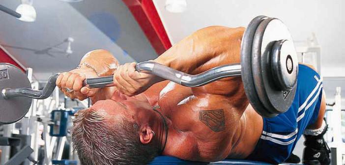 Skull-Crushers Triceps Exercise