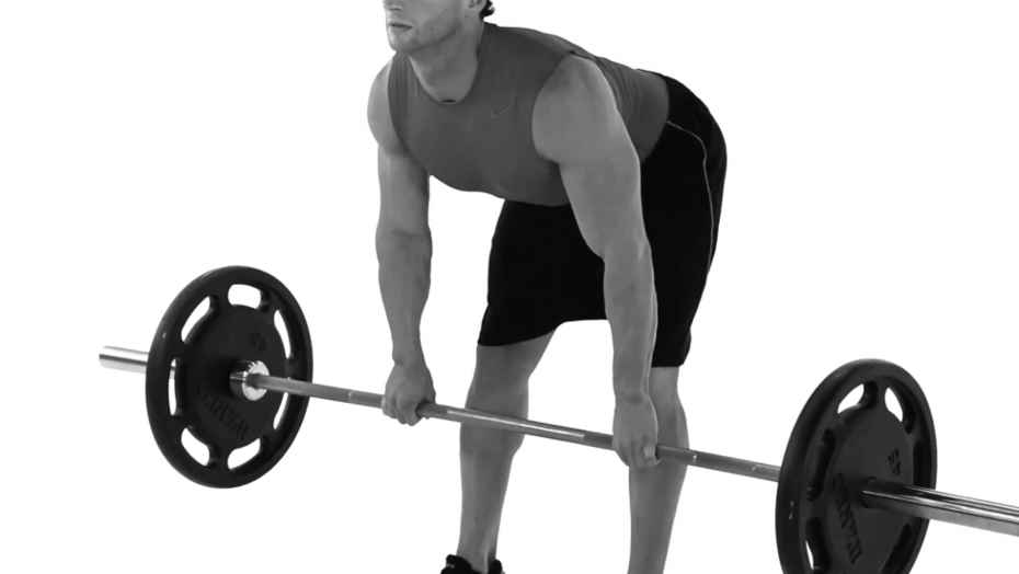 Barbell Straight Leg Deadlift