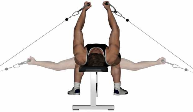 Cable flyes - flat bench cable flyes