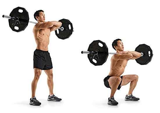 Front Barbell Squat Bodybuilding Wizard