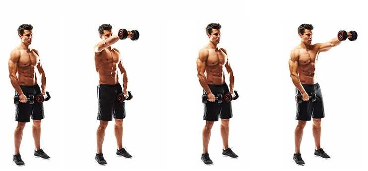 Image result for dumbbell front raise