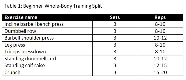 Total Body Training Split