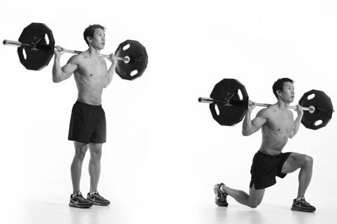 Barbell Lunge Exercise Guide