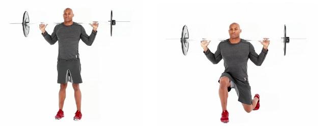 Barbell Lunge Bodybuilding Wizard