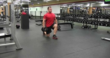 Dumbbell Lunge Exercise