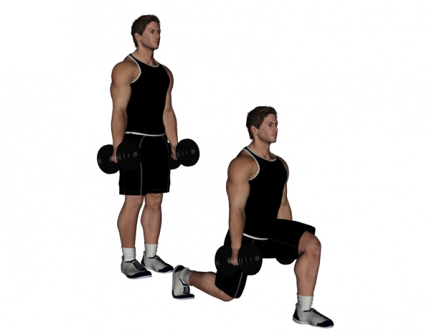 Dumbbell Lunge - Bodybuilding Wizard