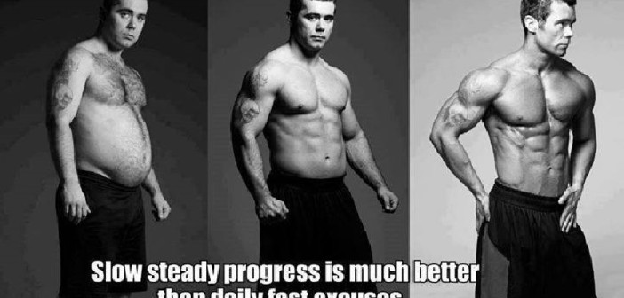 Slow steady progress is much better than daily fast excuses.