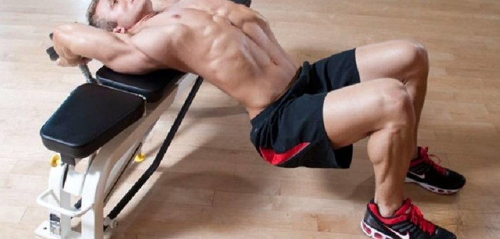 Dumbbell Pullovers Across A Flat Bench