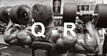 Glossary of Bodybuilding Terms