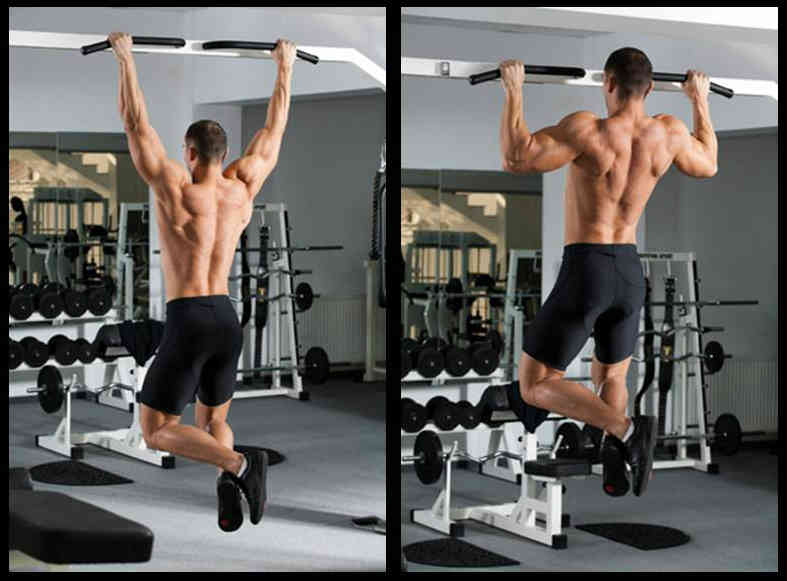 Wide Grip Pull-Up Exercise