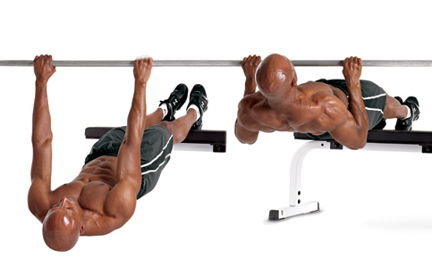Elevated-Feet Inverted Row