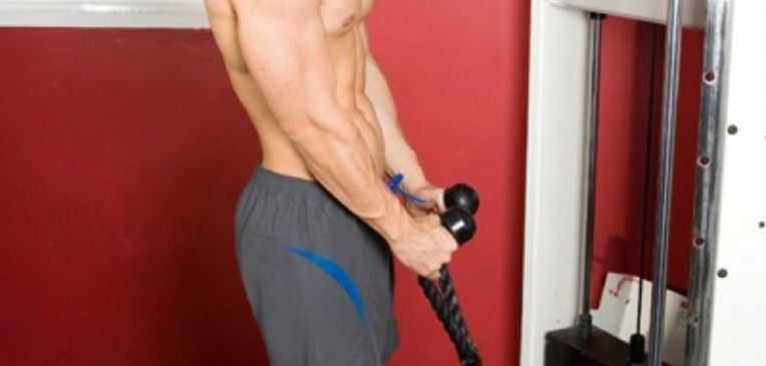 Cable Rope Hammer Curls