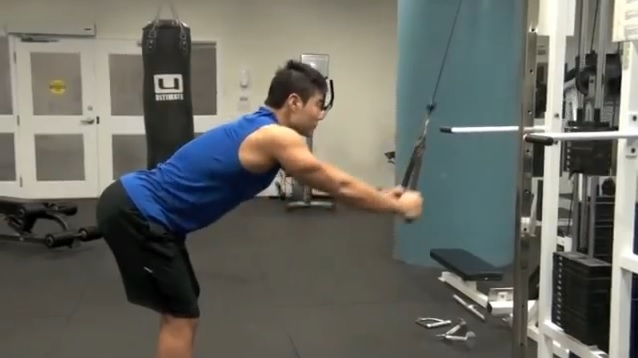Straight-Arm Pull-Downs- 45 degree bent