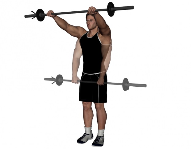 Image result for Front barbell raise
