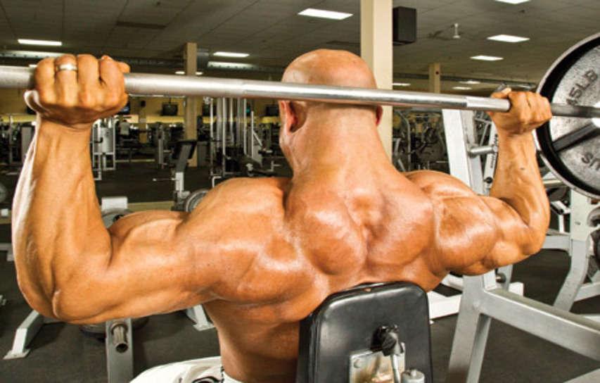 Behind The Neck Shoulder Press Bodybuilding Wizard