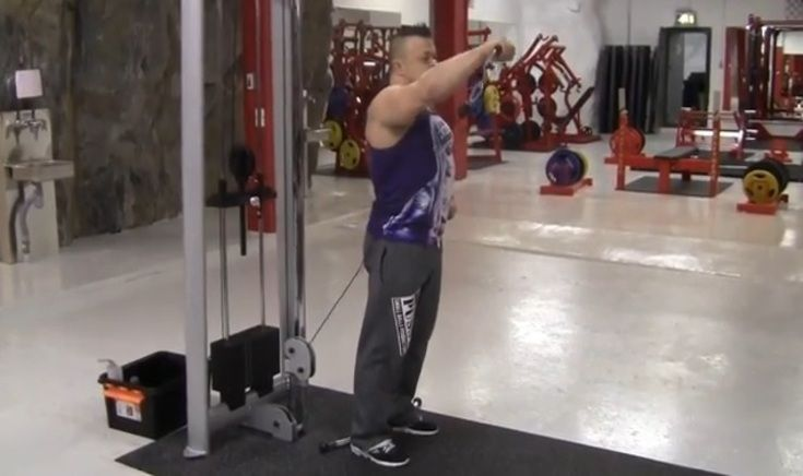 pin cable rear deltoid extensions video strength exercise