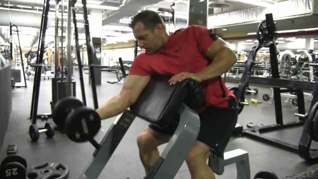 One-Arm Dumbbell Preacher Curl