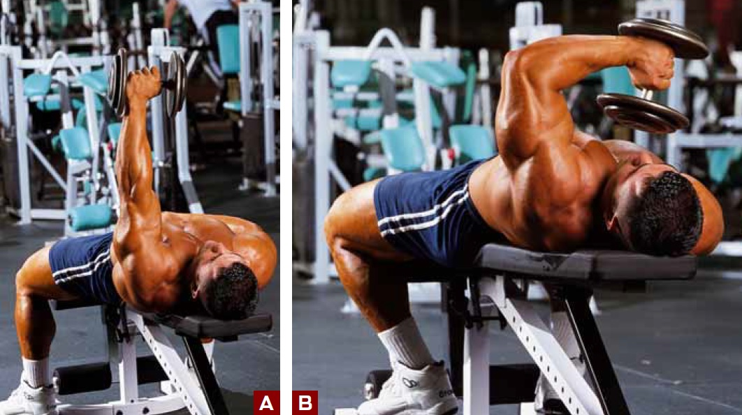 One Arm Lying Dumbbell Triceps Extension