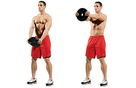 Weight-Plate Front Raise