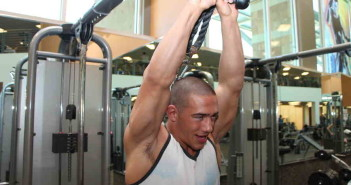 Standing Rope Overhead Triceps Press