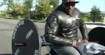 Motorcycle Wheelie Bench Press