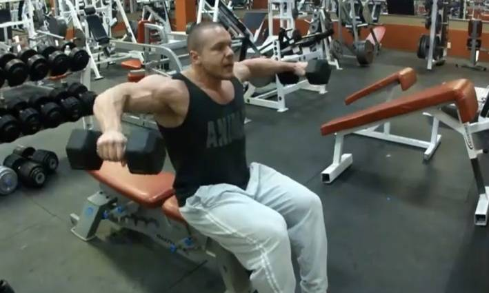 seated dumbbell lateral raise � bodybuilding wizard