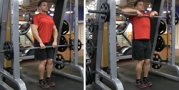 Image result for Smith Machine Upright Row