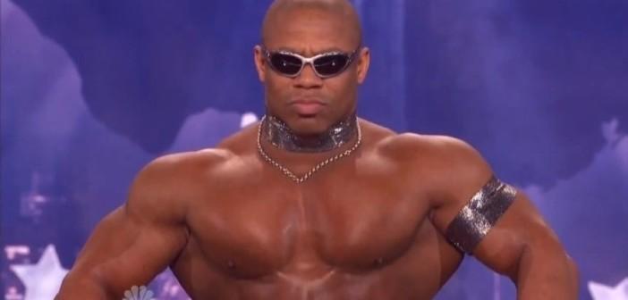 Bodybuilder Dancing Like A Robot
