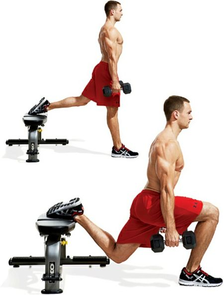 Bulgarian Dumbbell Split Squat Exercise