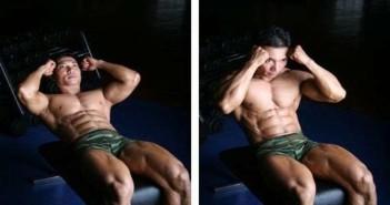 Decline Bench Sit-Ups Abdominal Exercise