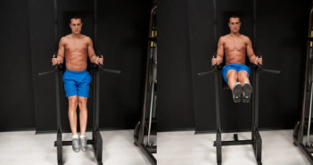 Leg Raise on Parallel Bars