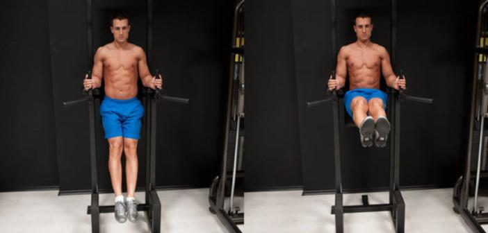 Leg Raise on Parallel Bars