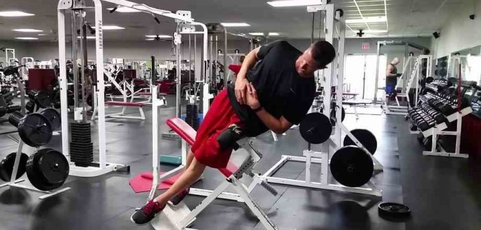 Side Bends On A Hyperextension Bench Bodybuilding Wizard