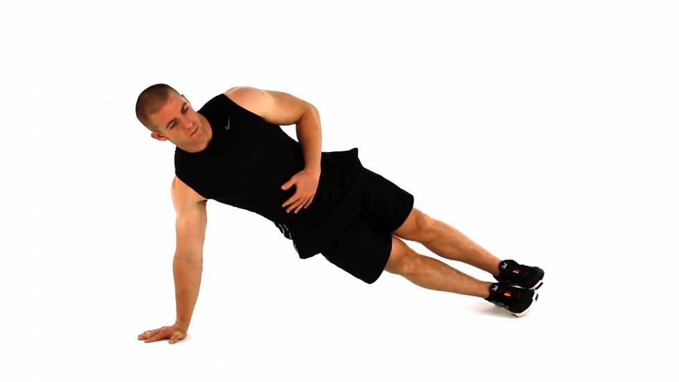 Side plank core exercise bodybuilding wizard