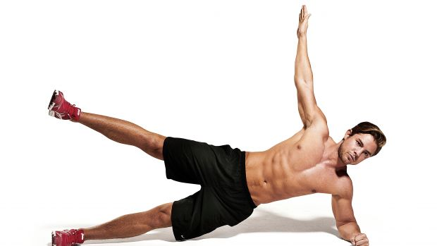 Side Plank With Leg And Arm Lift