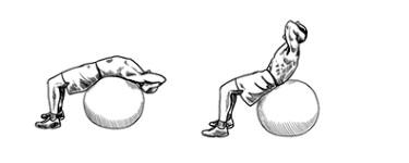 Swiss Ball Sit-Ups