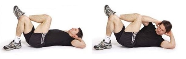 Cross-Over Crunch Abdominal Exercise