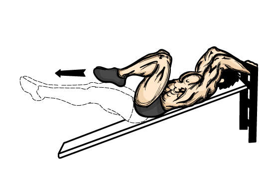 Incline Leg Raise Variations