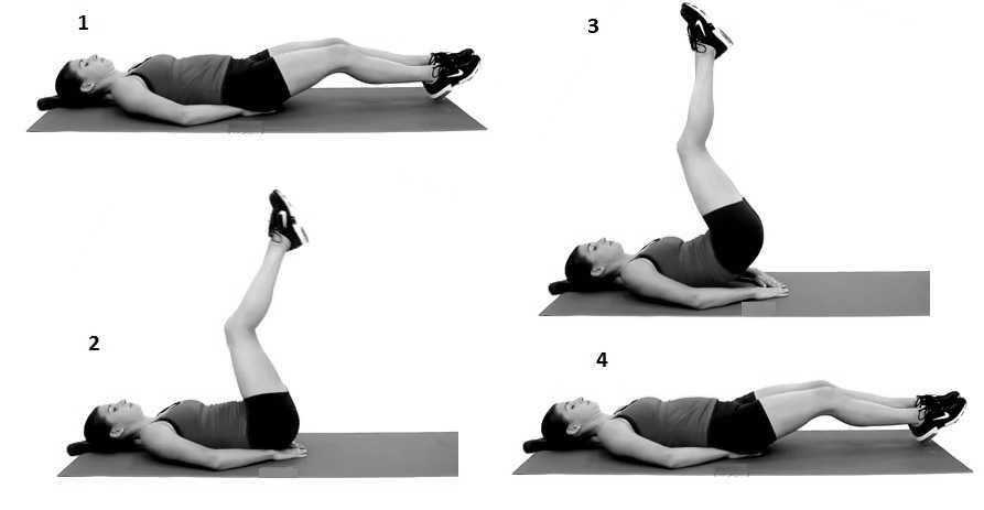 Leg lift with hip raise