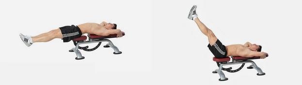 Image result for bench single leg lift