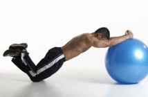 Stability Ball Forward Row Exercise
