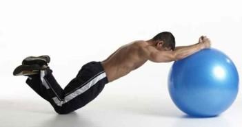 Stability Ball Forward Row Exercise