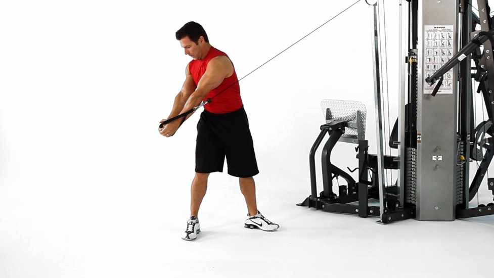 Standing Cable Woodchopper Bodybuilding Wizard