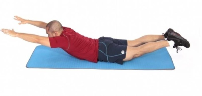 Superman Lower Back Exercise