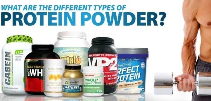 Types of protein powders and their differences