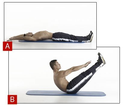 Full V-Sit or Jackknife Sit-Up