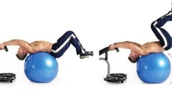 Swiss-Ball Reverse Crunch